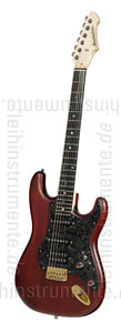 zur Detailansicht E-Gitarre BERSTECHER Vintage 2018 - Black Cherry / Floral Black + Koffer - made in Germany