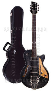 zur Detailansicht E-Gitarre DUESENBERG STARPLAYER TV - Black Sparkle (2016) + Custom Line Case