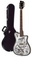 E-Gitarre DUESENBERG JOHNNY DEPP Alliance Series - Black - Tremolo + Custom Line Case